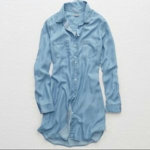 Aerie Chambray Shirt Dress Size Medium